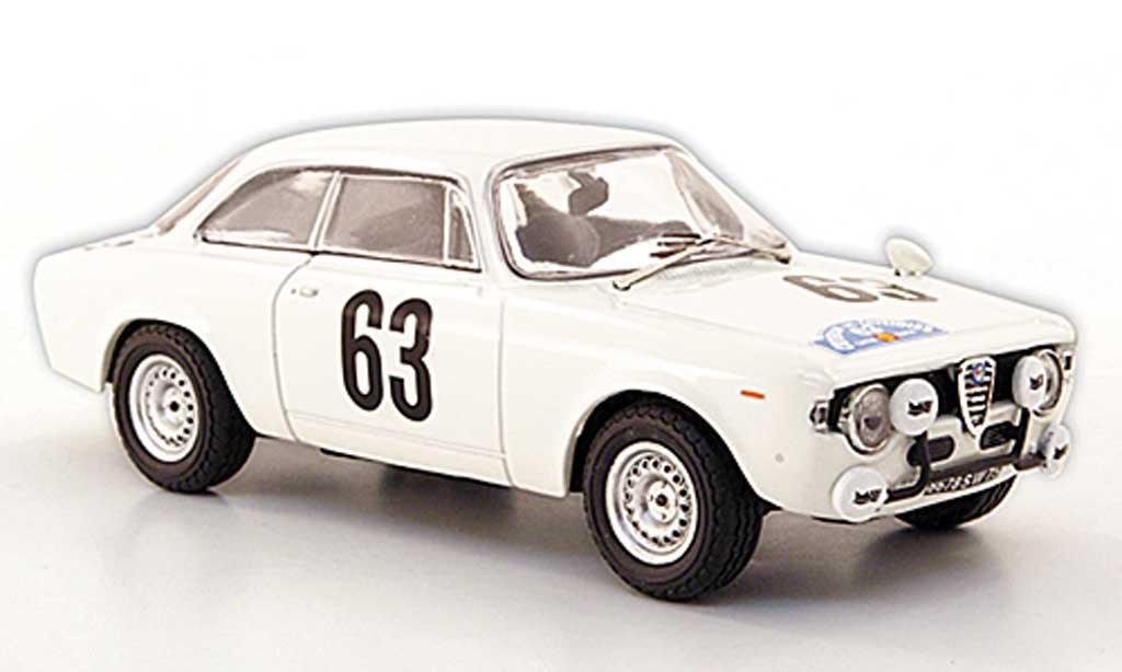 Alfa Romeo Giulia 1600 GTA 1/43 M4 No.63 Bianchi/VIC Ciriterium de Cevennes 1965 diecast model cars