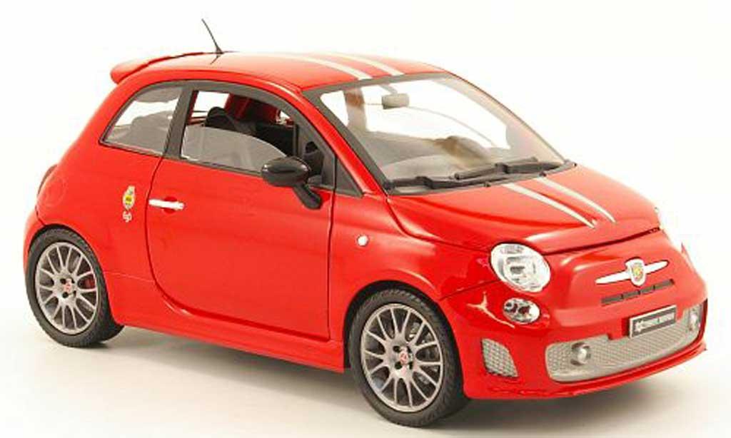 Fiat 695 1/18 Mondo Motors abarth tributo ferrari rouge/grise metallisee miniature