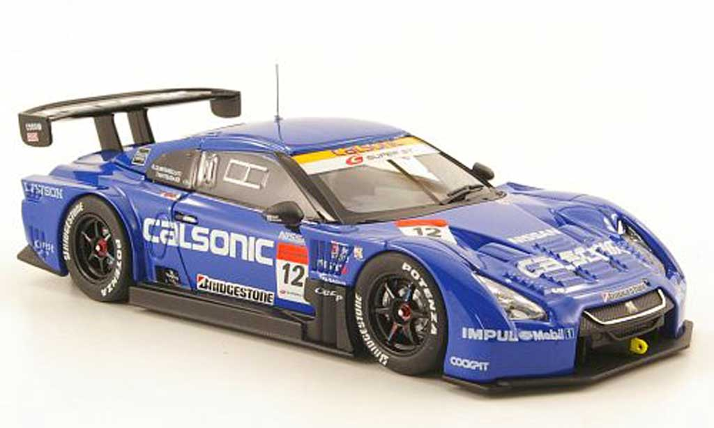 Nissan Skyline 1/43 Ebbro GT-R No.12 Calsonic Super GT500 Fuji 2010 miniature