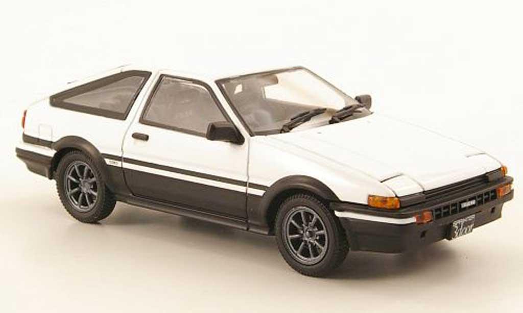 Toyota Trueno 1/43 Ebbro Sprinter (AE86) blanche/noire miniature