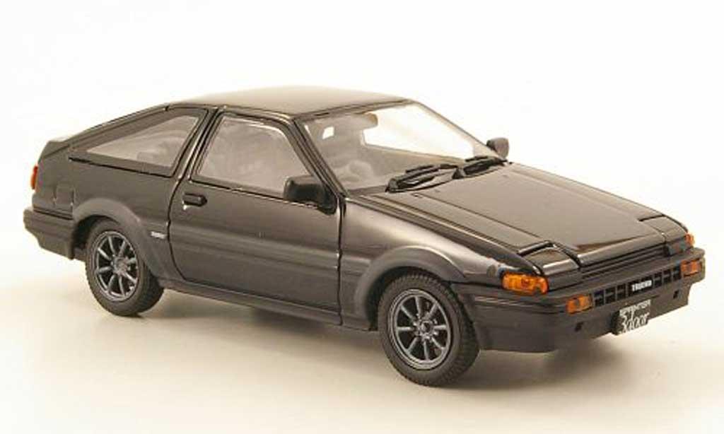 Toyota Trueno 1/43 Ebbro Sprinter (AE86) noire/grise miniature
