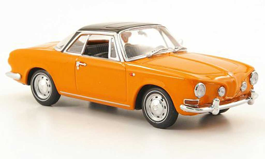 Volkswagen Karmann 1/43 Minichamps Ghia Coupe (Typ 34) orange/noire 1961 miniature