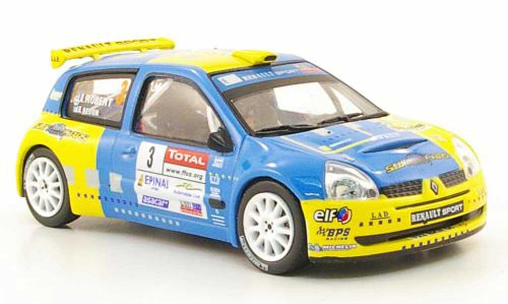 Renault Clio S1600 1/43 Hachette No.3 Rally Alsace Vosges 2006 miniature
