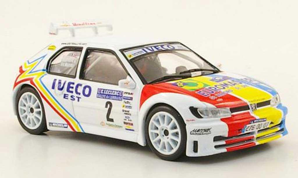Peugeot 306 Maxi 1/43 Hachette No.2 Iveco Rally de Lorraine 2007 miniature