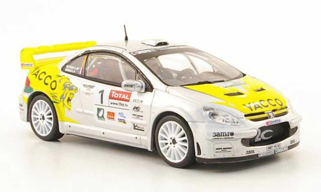 Peugeot 307 WRC 1/43 Hachette No.1 Yacco Rally du Limousin 2008 miniature