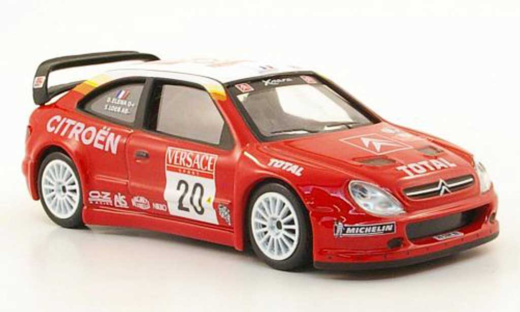 Citroen Xsara WRC 2001 1/43 Hachette No.20 Total Rally San Remo miniature