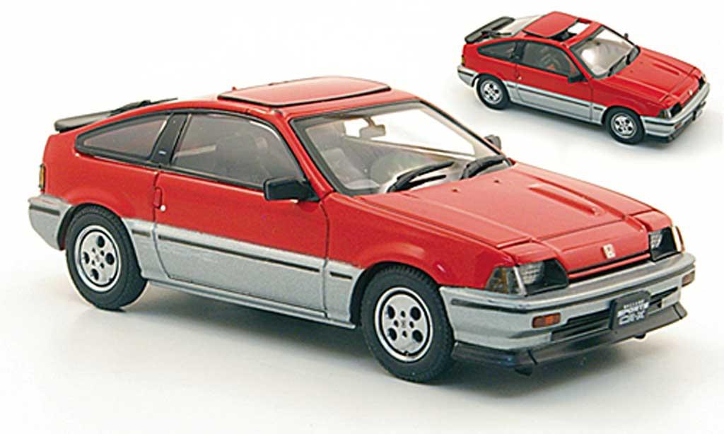 Honda CR-X Ballade 1/43 Ebbro Ballade Sports Si rouge/grise  1984 miniature