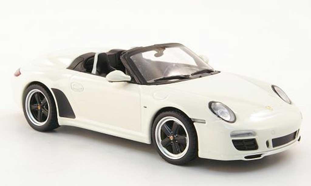 Porsche 997 Speedster 1/43 Minichamps blanche 2011 miniature
