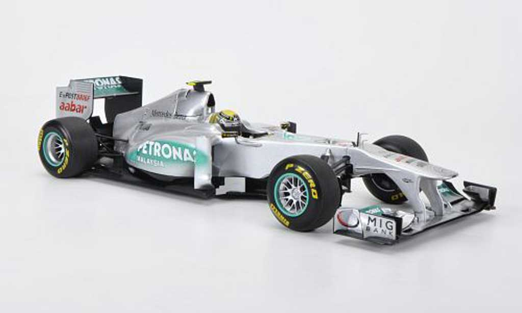 Mercedes F1 1/18 Minichamps GP MGP W02 No.8 Petronas N.Rosberg Saison 2011 miniature