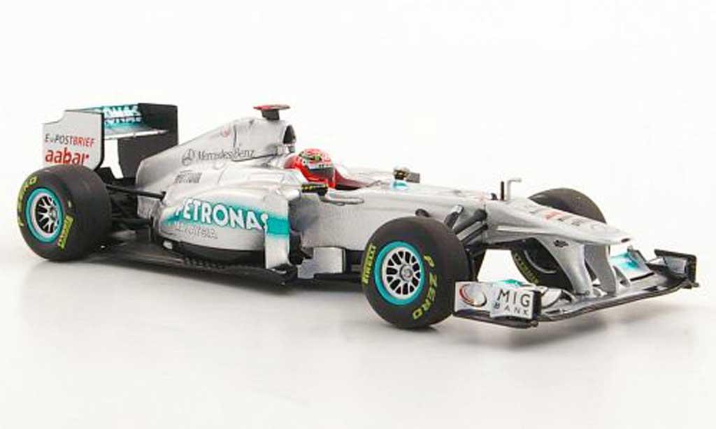 Mercedes F1 2011 1/43 Minichamps GP W02 No.7 Petronas M.Schumacher F1-Saison miniature