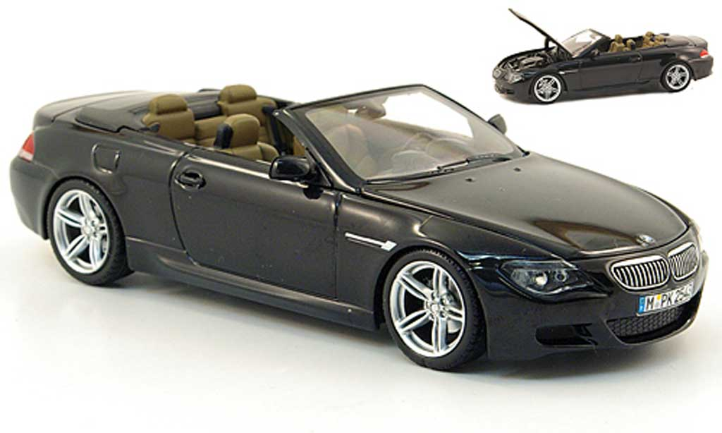 bmw m6 cabriolet e64 m schwarz 2006 kyosho modellauto 1 43 kaufen verkauf modellauto. Black Bedroom Furniture Sets. Home Design Ideas