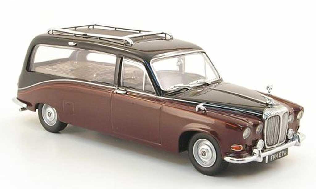Daimler DS 420 1/43 Oxford Leichenwagen rouge/noire miniature