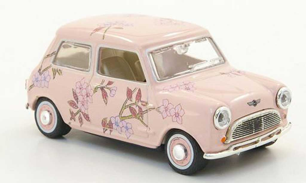 Austin Mini Cooper 1/43 Oxford pink mit Blutenmuster  miniature