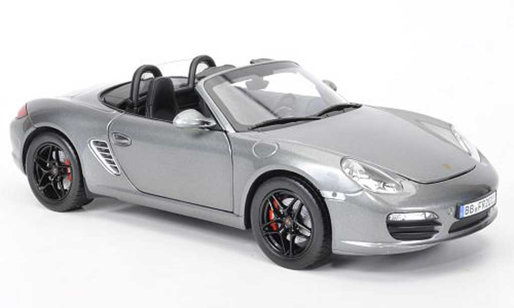 porsche boxster s grau 2009 norev modellauto 1 18 kaufen verkauf modellauto online. Black Bedroom Furniture Sets. Home Design Ideas
