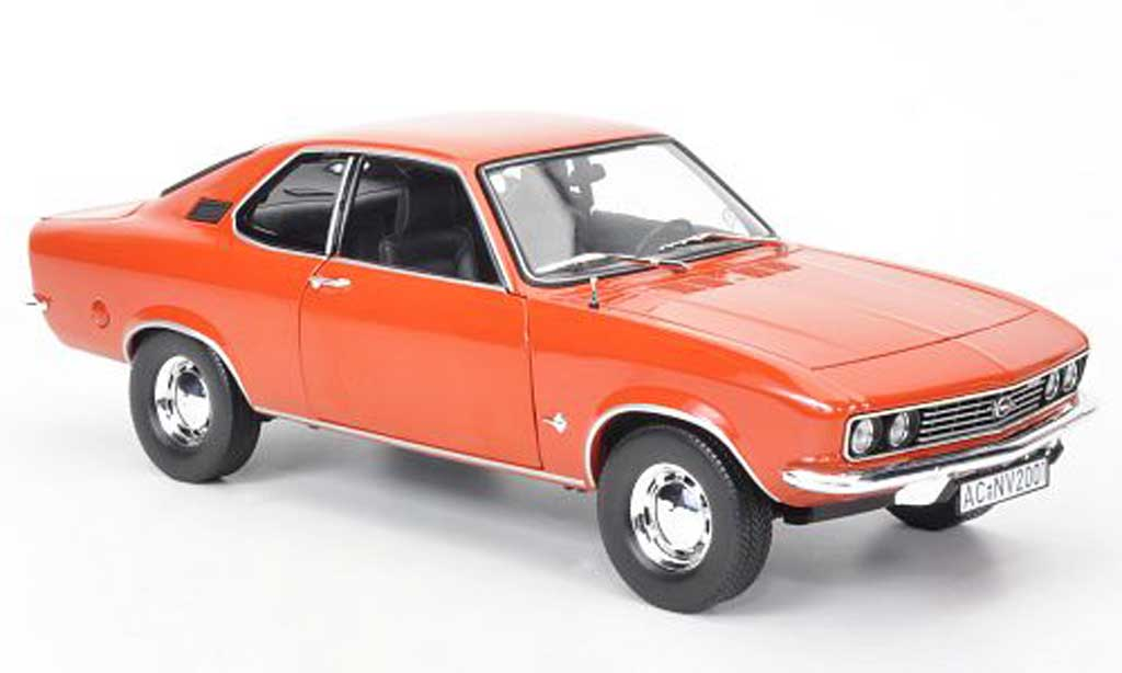 Opel Manta A 1/18 Norev rouge orange 1971 miniature