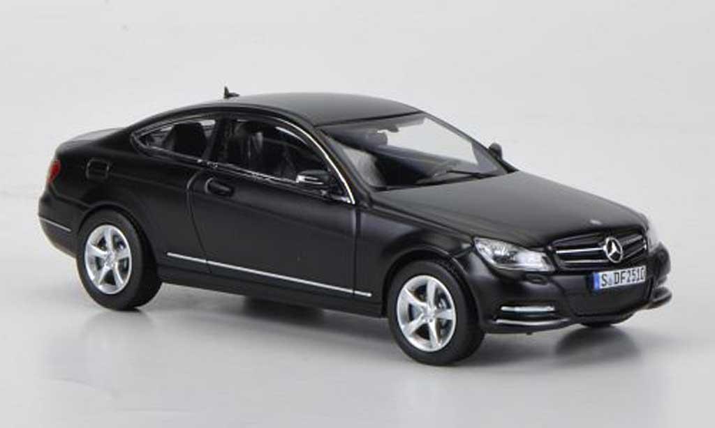 mercedes classe c miniature coupe c204 mattnoire 2011 norev 1 43 voiture. Black Bedroom Furniture Sets. Home Design Ideas