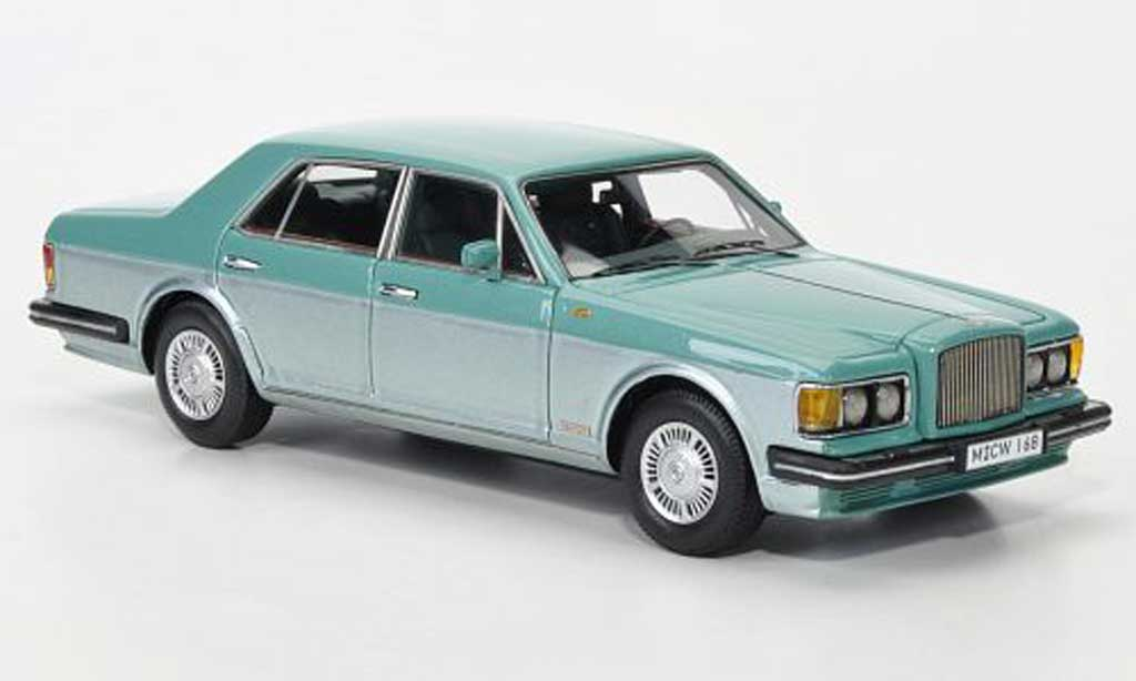 Bentley Turbo R 1/43 Neo turkis/grise grise LHD limited edition 1985 miniature