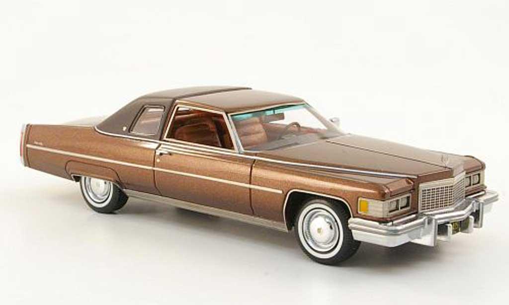 Cadillac Deville 1976 1/43 Neo 1976 Coupe marron/marron miniature