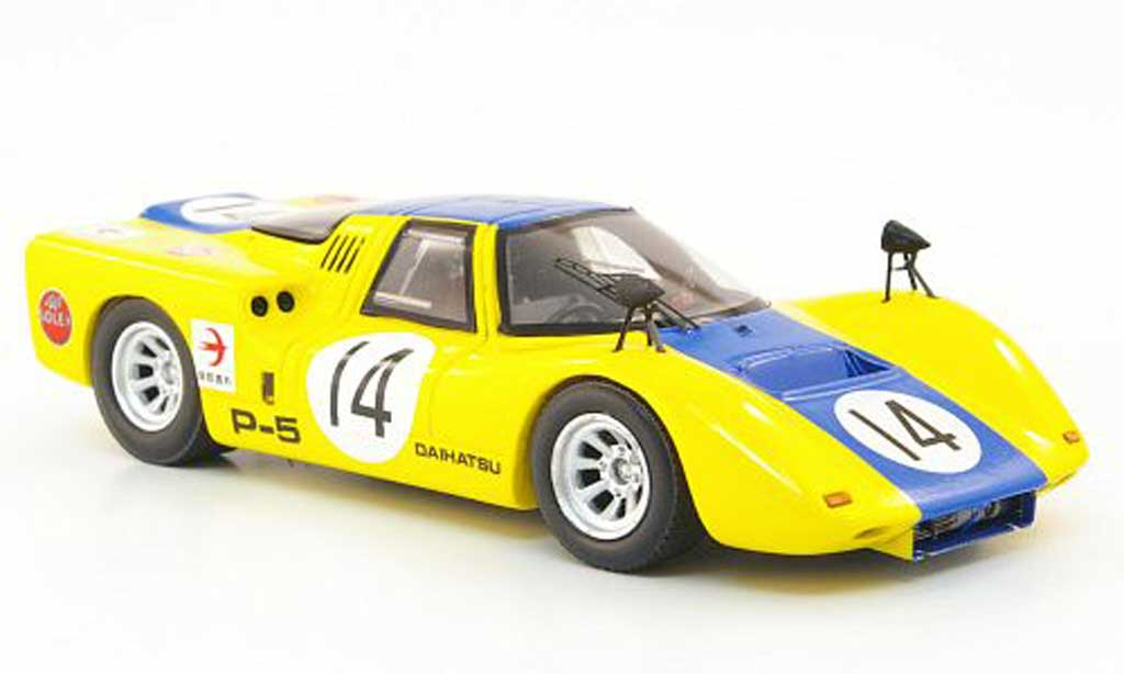 Daihatsu P-5 1/43 Ebbro No.14 jaune/bleu GP Japan 1968 miniature