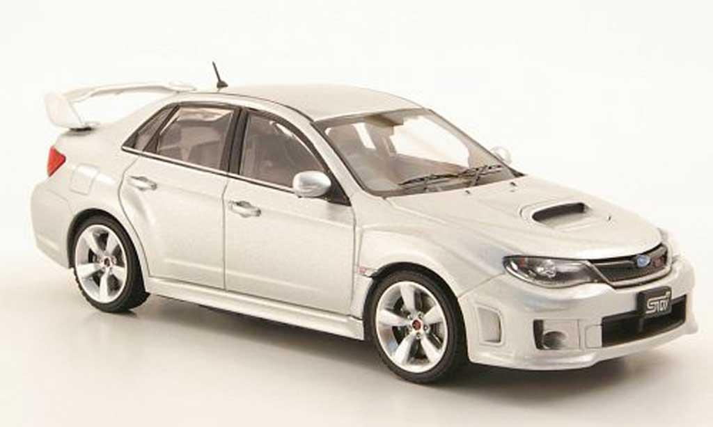 Subaru Impreza WRX 1/43 Ebbro grise 2010 miniature