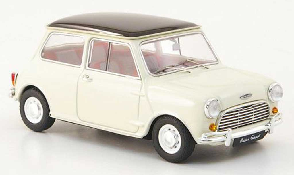 Austin Mini Cooper 1/43 Ebbro white/black RHD 1961