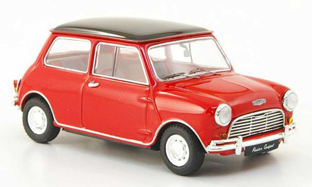 austin mini cooper miniature rouge noire rhd 1961 ebbro 1 43 voiture. Black Bedroom Furniture Sets. Home Design Ideas