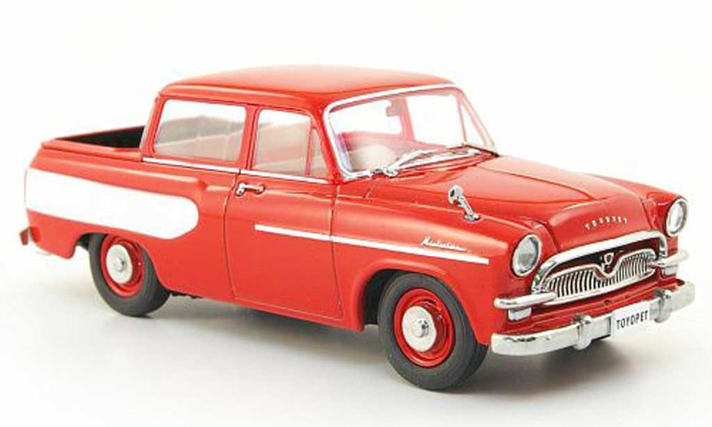 Toyopet Masterline 1/43 Ebbro Double Pick Up rouge/blanche 1959 miniature