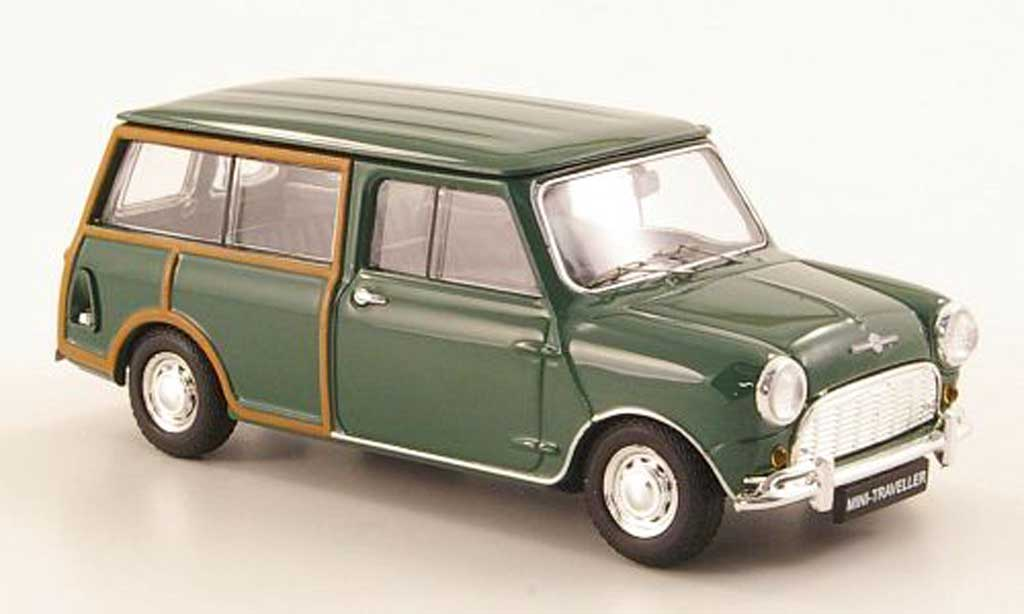 Austin Mini Morris 1/43 Ebbro Traveller grun RHD 1960 miniature