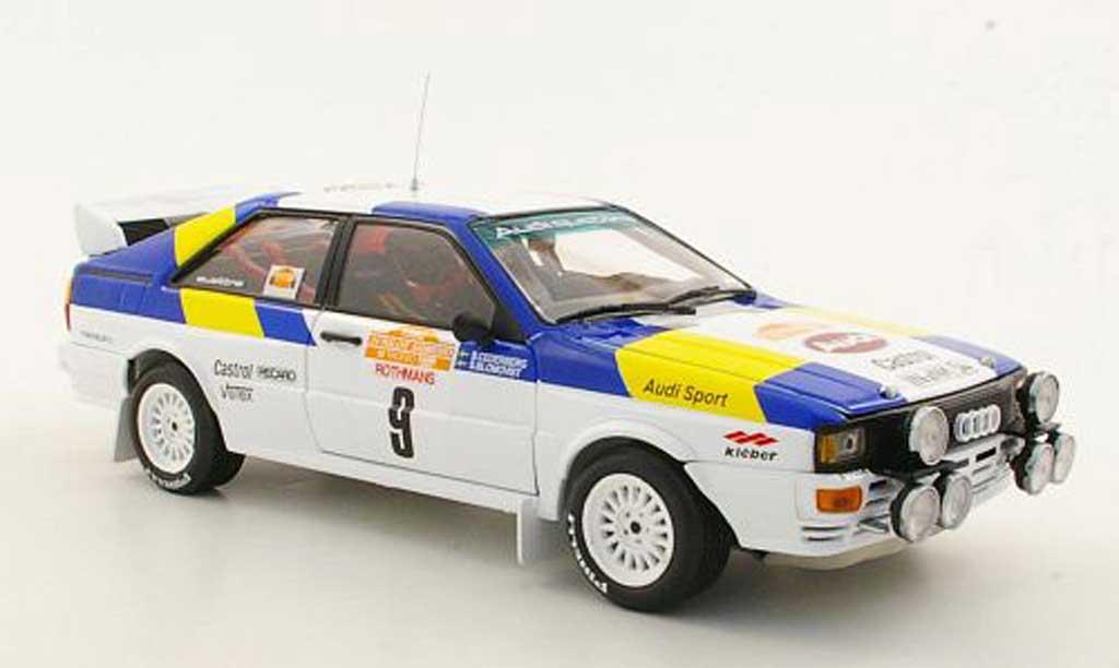 Audi Quattro 1/18 Sun Star No.9 S.Blomqvist / B.Cederberg Rally San Remo 1982 miniature