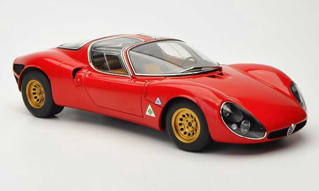 Alfa Romeo 33 1/18 Autoart tipo Stradale Prossootipo rosso 1967 miniatura