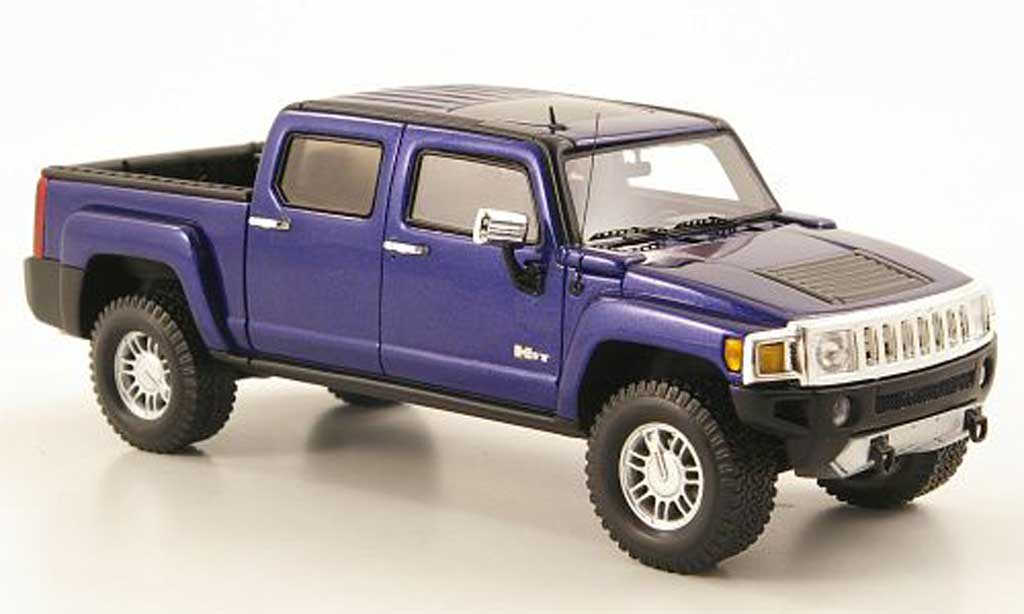 Hummer H3 1/43 Luxury Collectibles T bleu 2008 miniature