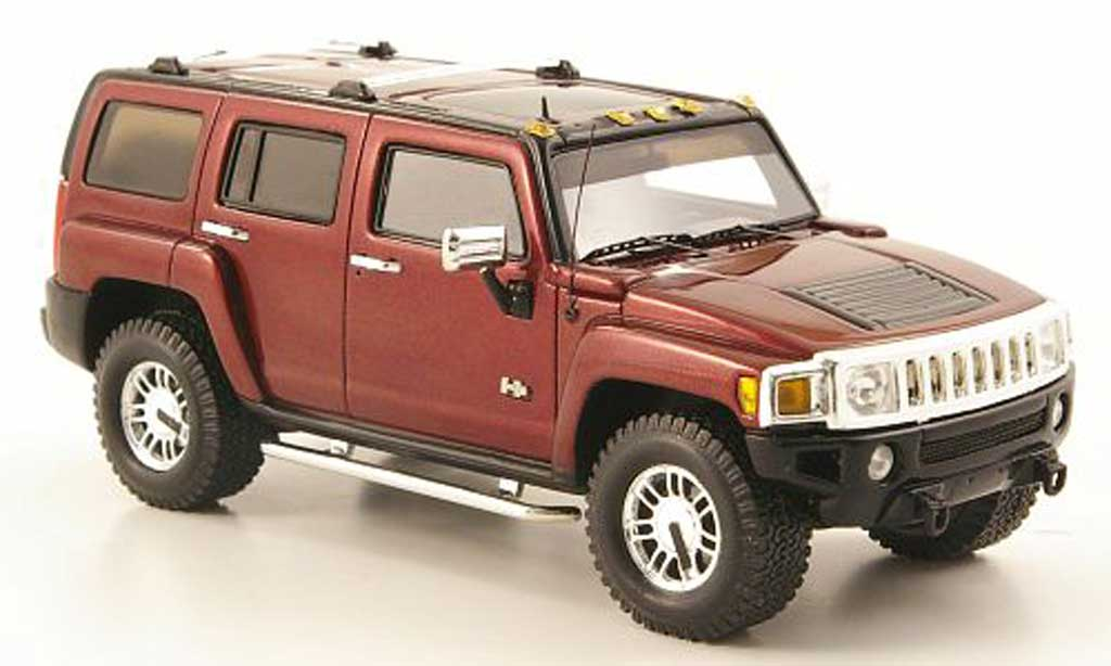 Hummer H3 1/43 Luxury Collectibles rouge 2006 miniature