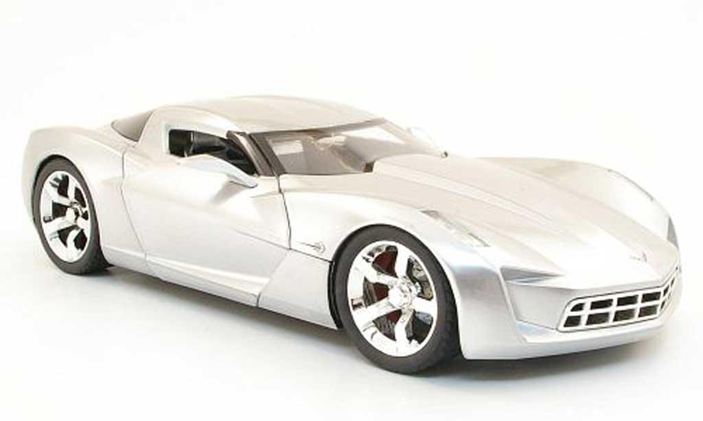Chevrolet Corvette C6 1/18 Jada Toys concept grau metallisee modellautos