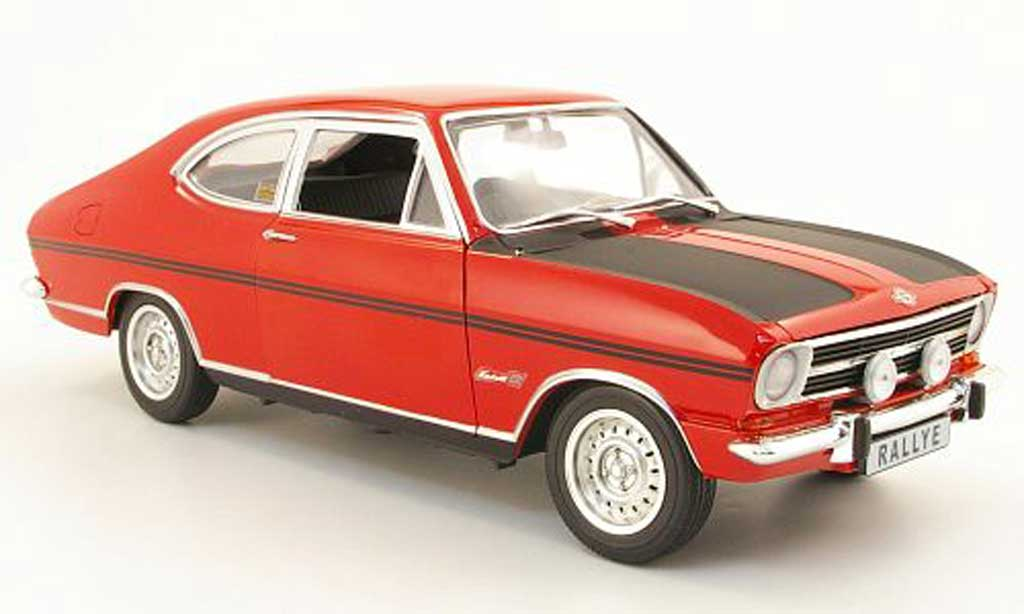 Opel Kadett B rally 1900 red/black 1969 Revell. Opel Kadett B rally 1900 red/black 1969 Rallye miniature 1/18