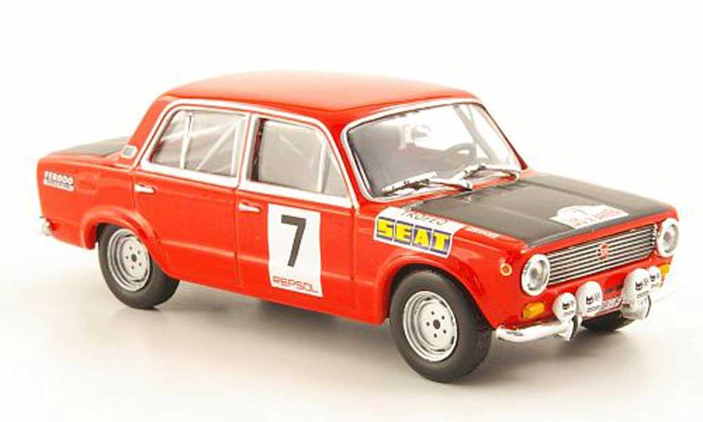 Seat 124 1/43 Hachette 1600 No.7 Trofeo Rally Criterium Luis de Baviera 1972 modellino in miniatura
