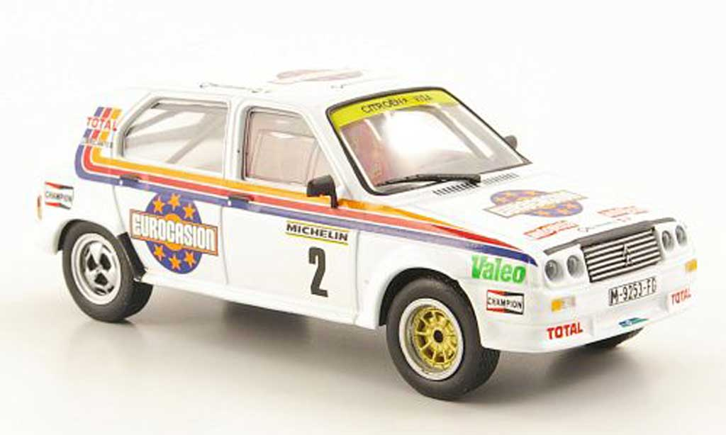 Citroen Visa 1/43 Hachette Chrono No.2 Eurocasion Rallye RACE Madrid 1984 diecast