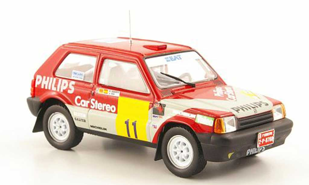 Seat Marbella 1/43 Hachette Projao No.11 Philips Rally de Tierra de Aviles 1988 miniatura