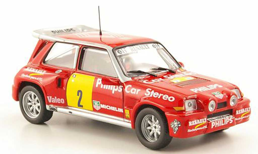 Renault 5 Turbo 1/43 Hachette Maxi 4x4 No.2 Philips Rally de Tierra de Aviles 1989 miniature