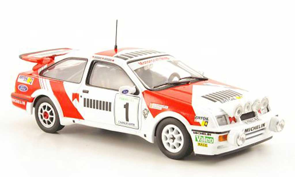 Ford Sierra Cosworth RS 1/43 Hachette No.1 Rally Cajalicante 1988 modellautos