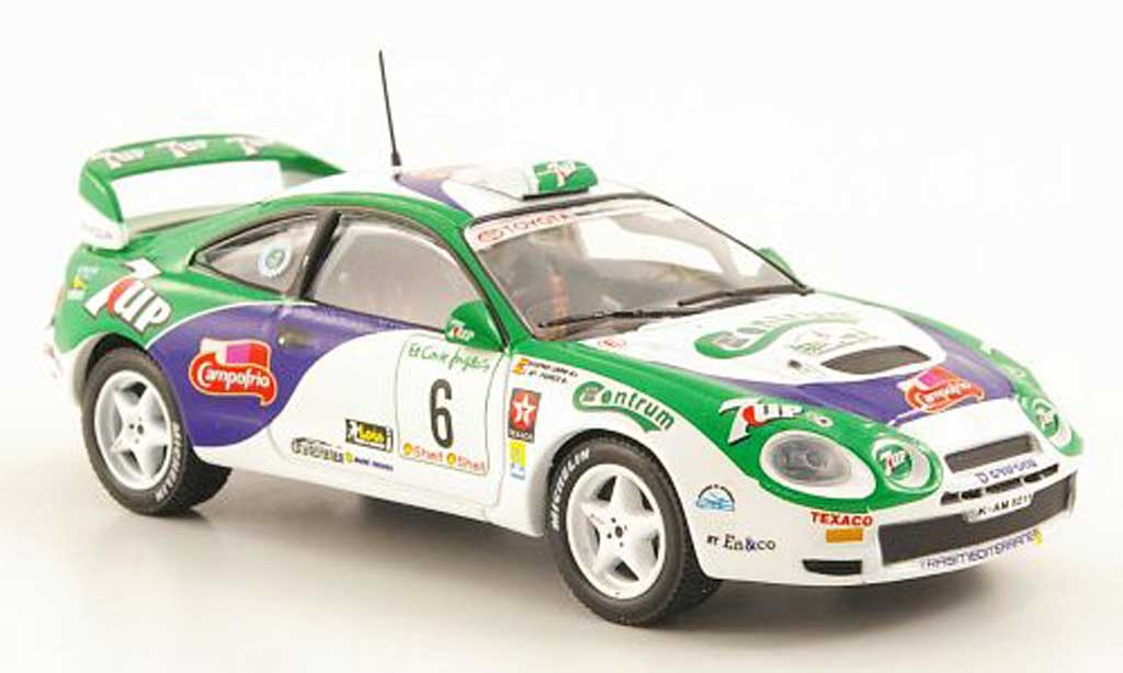 Toyota Celica GT Four 1/43 Hachette 1996 No.6 7 UP Rally El Corte Ingles modellautos