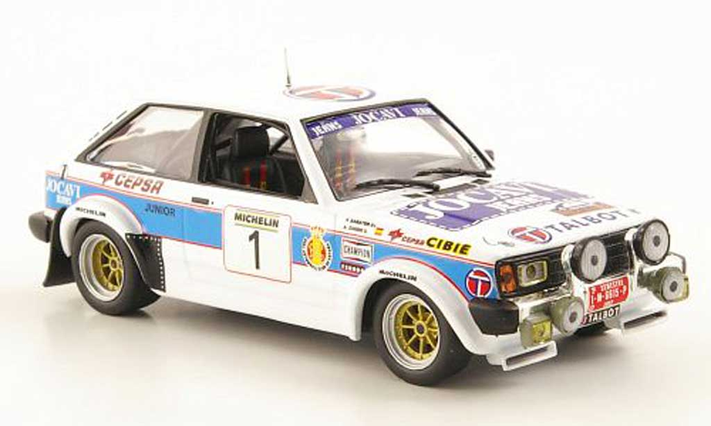 Sunbeam Lotus 1982 1/43 Hachette Talbot Lotus No.1 Jocavi Jeans Rally Principle de Asturias 1982 diecast model cars