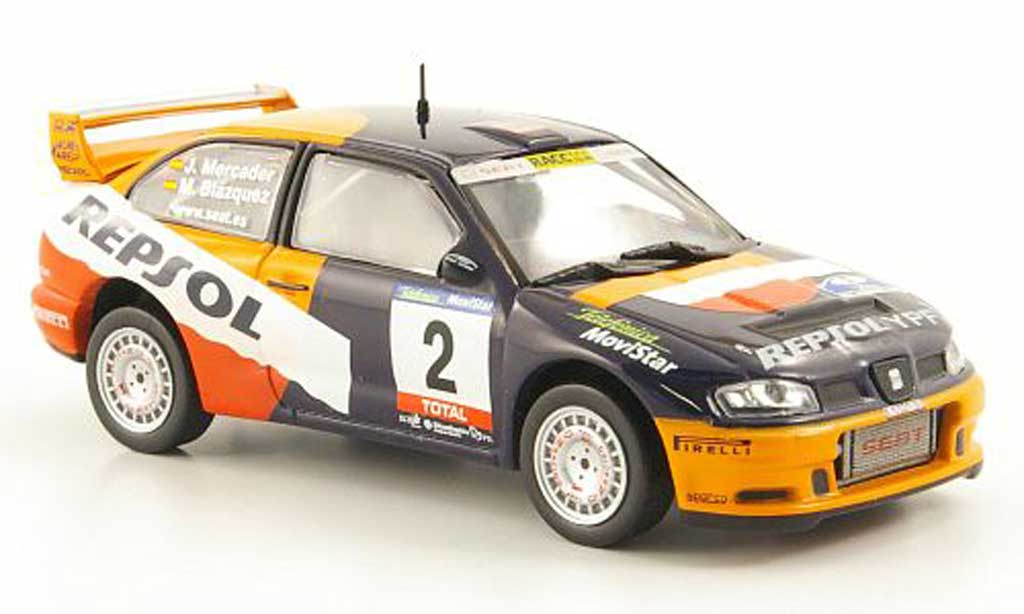 Seat Cordoba 1/43 Hachette WRC No.2 Repsol Rally RAC Navarra de Tierra 2001 miniatura