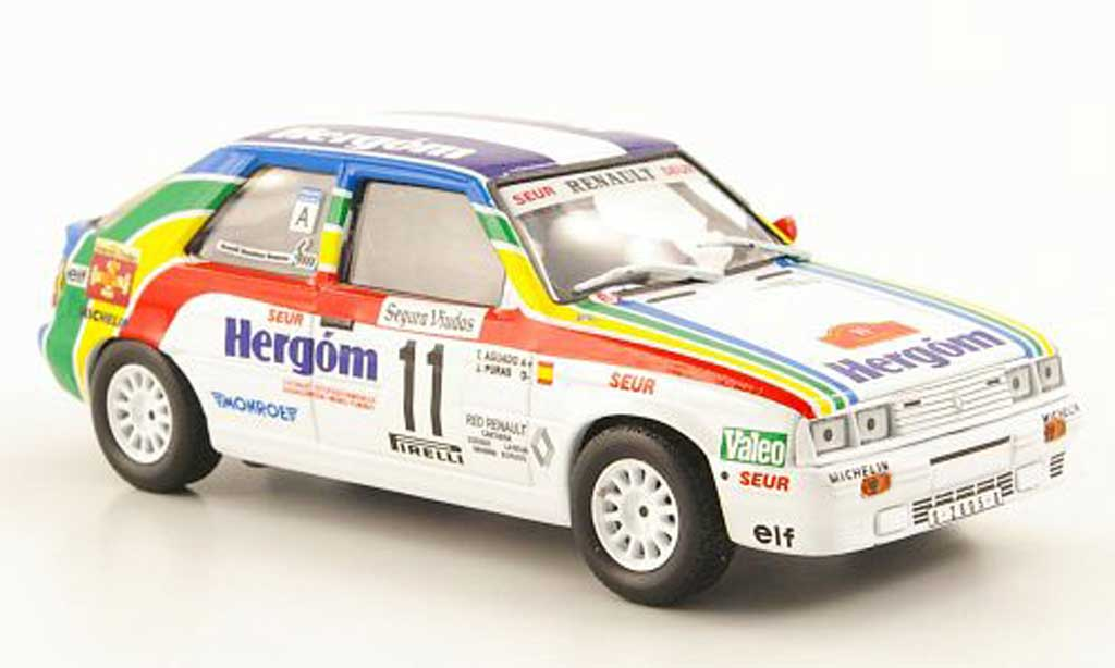 Renault 11 Turbo 1/43 Hachette Turbo No. Hergom Rally Catalunya 1987 miniature