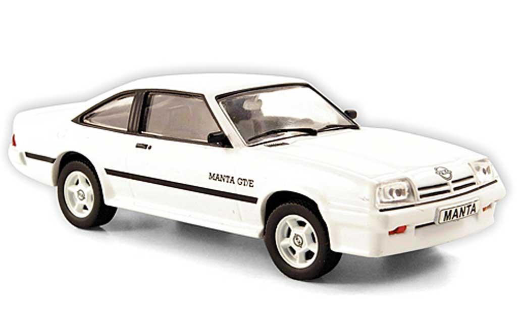 Opel Manta B 1/43 Hachette GT/E blanche (ohne Magazin) 1977 miniature