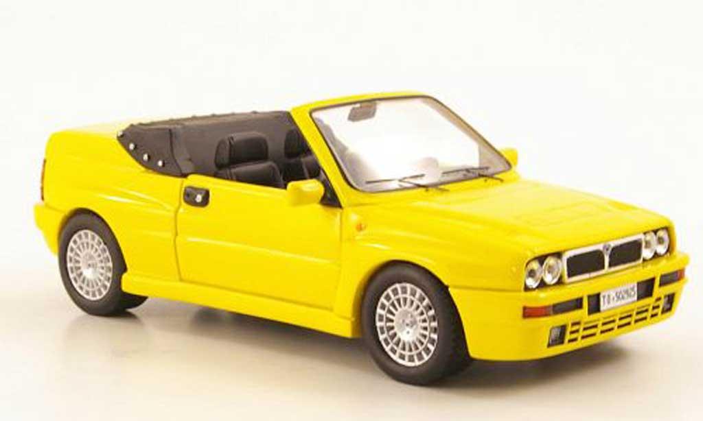 Lancia Delta HF Integrale 1/43 Premium X Cabriolet jaune 1992 miniature