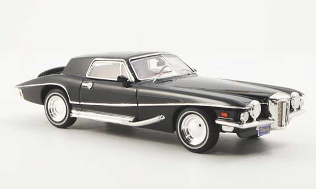 Stutz Blackhawk 1/43 Premium X Coupe noire 1971 miniature