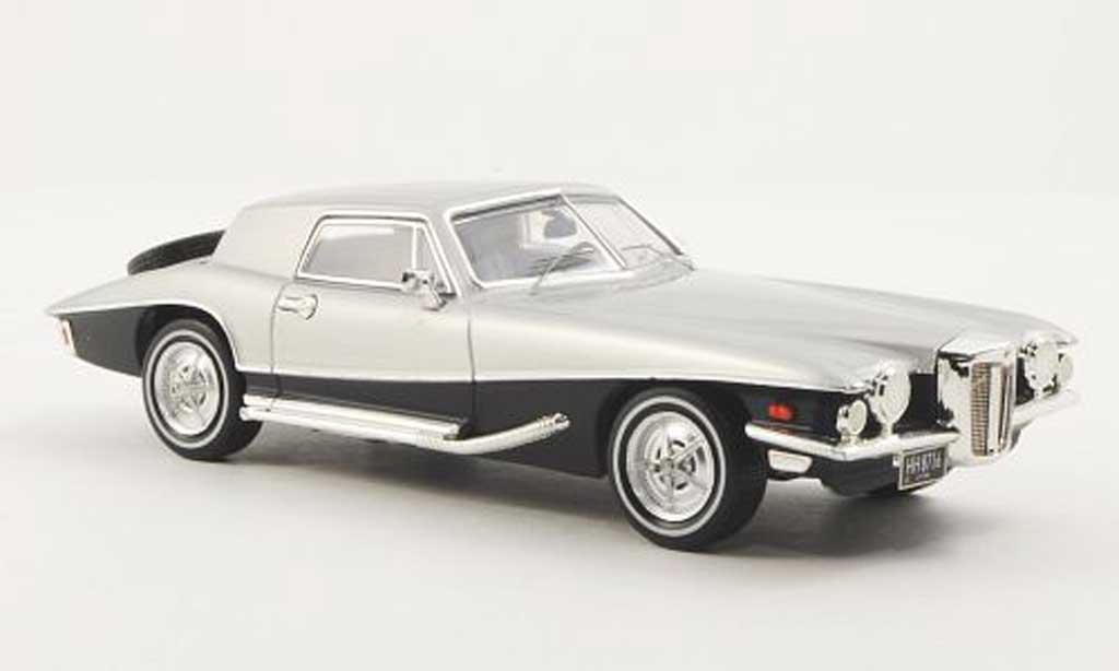 Stutz Blackhawk 1/43 Premium X Coupe bleu/grise 1971 miniature