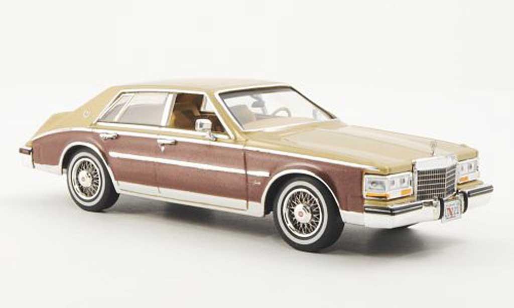 Cadillac Seville 1980 1/43 Premium X Elegante beige/marron miniature