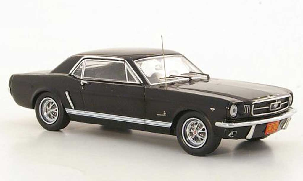 ford mustang 1965 miniature noire premium x 1 43 voiture. Black Bedroom Furniture Sets. Home Design Ideas
