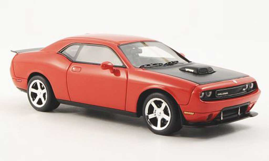 Dodge Challenger 2009 1/43 Premium X SRT10 orangerouge/carbon miniature